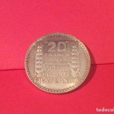 Monedas antiguas de Europa: 20 FRANCOS 1938 FRANCIA SIN CIRCULAR. Lote 118668464