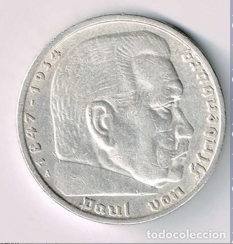 ALEMANIA - TERCER REICH 5 REICHSMARK, 1935 CECA A - BERLÍN PLATA (Numismática - Extranjeras - Europa)