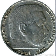 Monedas antiguas de Europa: ALEMANIA - TERCER REICH 5 REICHSMARK, 1936 CECA D- MÚNICH PLATA. Lote 118676719