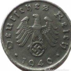 Monedas antiguas de Europa: ALEMANIA - TERCER REICH 5 REICHSPFENNIG, 1940 CECA G - KARLSRUHE. Lote 126088175