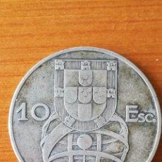 Monedas antiguas de Europa: 10 ESCUDOS PORTUGAL DE PLATA 1954 PESO 12.47 GRAMOS. Lote 118723575