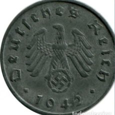 Monedas antiguas de Europa: ALEMANIA - TERCER REICH 10 REICHSPFENNIG, 1942 CECA A - BERLÍN. Lote 138834945