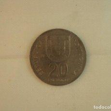 Monedas antiguas de Europa: PORTUGAL 20 ESCUDOS MONEDA DE 1987, BIEN CONSERVADA. Lote 118836027