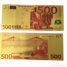 Monedas antiguas de Europa: BILLETE DE 500 EUROS LAMINADO EN ORO 24KT - EUROPA EUROS. Lote 222308330
