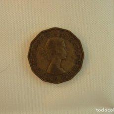 Monedas antiguas de Europa: MONEDA GRAN BRETAÑA 3 PENCE 1955. Lote 119150979