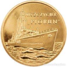 Monedas antiguas de Europa: POLONIA: 2 ZL. 2012 DESTRUCTOR PIORUN - 2 ZLOTYCH POLAND - POLSKA - DESTROYER. Lote 119269271