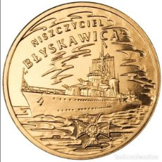 Monedas antiguas de Europa: POLONIA: 2 ZL. 2012 DESTRUCTOR ORP B?YSKAWICA 2 ZLOTYCH POLAND DESTROYER. Lote 119269327