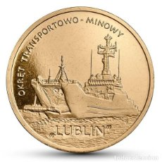 Monedas antiguas de Europa: POLONIA: 2 ZL. 2013 LUBLIN CLASS MINELAYER-LANDING SHIP 2 ZLOTYCH POLAND POLSKA. Lote 119269395