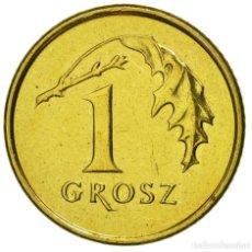 Monedas antiguas de Europa: POLONIA 1 GROSZ 2004 - BOLSA DE 5 MONEDAS. SIN CIRCULAR.. Lote 119271851