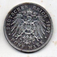 Monedas antiguas de Europa: ALEMANIA. PRUSIA. 5 MARCOS. AÑO 1907 A. PLATA.. Lote 119472079