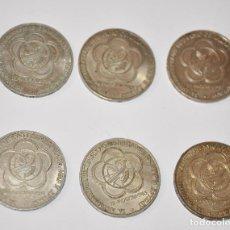 Monedas antiguas de Europa: LOTE SEIS MONEDAS SOVIETICAS .1 RUBLO 1985 A.URSS. Lote 119514124