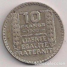 Monedas antiguas de Europa: FRANCIA - 10 FRANCOS 1930 PLATA - KM#878. Lote 89078916