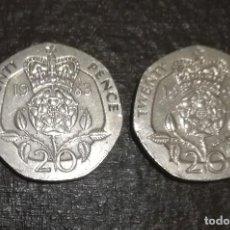 Monedas antiguas de Europa: 2 MONEDAS TWENTY PENCE AÑOS 1997 Y 1983. Lote 120958923