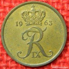 Monedas antiguas de Europa: DINAMARCA - 5 ORE - 1963. Lote 121016927