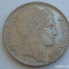 Monedas antiguas de Europa: MONEDA DE PLATA DE 20 FRANCOS DE FRANCIA DE 1934, MODELO TURIN, PESA 20 GRAMOS. Lote 121061363
