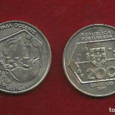 Monedas antiguas de Europa: PORTUGAL 200 ESCUDOS 1991. NAVEGACIÓN PARA OCCIDENTE. Lote 121064359