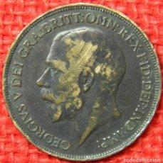 Monedas antiguas de Europa: REINO UNIDO - INGLATERRA - 1 PENNY - 1917. Lote 121069451