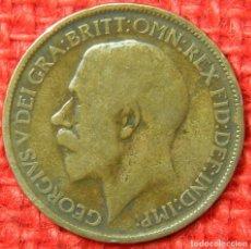 Monedas antiguas de Europa: REINO UNIDO - INGLATERRA - 1/2 HALF PENNY - 1920. Lote 121069667