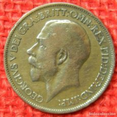 Monedas antiguas de Europa: REINO UNIDO - INGLATERRA - 1/2 HALF PENNY - 1920 . Lote 121069727