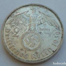 Monedas antiguas de Europa: MONEDA DE PLATA 2 MARCOS 1939 A, CECA DE BERLIN, ALEMANIA NAZI, MARISCAL PAUL VON HINDENBURG. Lote 121181323