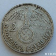 Monedas antiguas de Europa: MONEDA DE PLATA 2 MARCOS 1939 D, CECA DE MUNICH, ALEMANIA NAZI, MARISCAL PAUL VON HINDENBURG. Lote 121181387