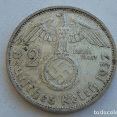 Monedas antiguas de Europa: MONEDA DE PLATA 2 MARCOS 1937 F, CECA DE STUTTGART, ALEMANIA NAZI, MARISCAL PAUL VON HINDENBURG. Lote 121182147