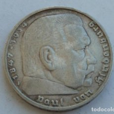 Monedas antiguas de Europa: MONEDA DE PLATA 5 MARCOS 1935 F, CECA DE STUTTGART, ALEMANIA NAZI, MARISCAL PAUL VON HINDENBURG. Lote 121183547