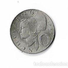 Monedas antiguas de Europa: AUSTRIA 10 SCHILLING DE PLATA DE 1958 EN MUY BUEN ESTADO. Lote 121326743