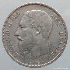 Monedas antiguas de Europa: BELGICA - LEOPOLDO II 5 FRANCOS 1873. Lote 121579515