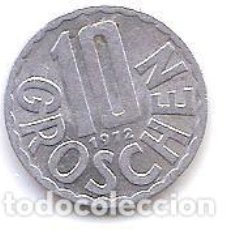 Monedas antiguas de Europa: AUSTRIA,10 GROSCHEN 1972.. Lote 121925999