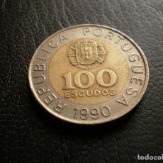 Monedas antiguas de Europa: PORTUGAL 100 ESCUDOS 1990. Lote 121926083