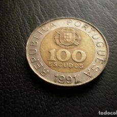 Monedas antiguas de Europa: PORTUGAL 100 ESCUDOS 1991. Lote 121926111