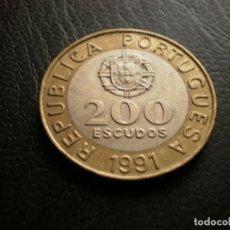 Monedas antiguas de Europa: PORTUGAL 200 ESCUDOS 1991. Lote 121926155