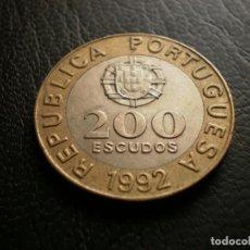 Monedas antiguas de Europa: PORTUGAL 200 ESCUDOS 1992. Lote 121926315