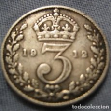 Monedas antiguas de Europa: TITANIC SOLID SILVER THREE PENCE 1912 COIN 3D ROYAL MINT VINTAGE RETRO ANTIQUE . Lote 121926355