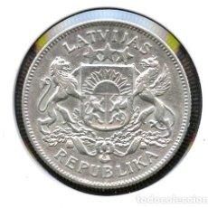 Monedas antiguas de Europa: LETONIA, MONEDA PLATA, 2 LATI, ESCUDO NACIONAL, COIN SILVER LATVIA, 1925. Lote 121926919