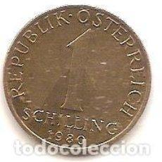 Monedas antiguas de Europa: AUSTRIA,1 SCHILLING 1980.. Lote 121928155