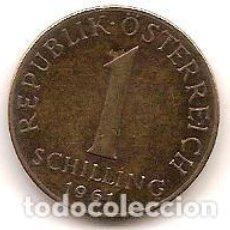 Monedas antiguas de Europa: AUSTRIA,1 SCHILLING 1961.. Lote 121929063