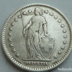 Monete antiche di Europa: MONEDA DE PLATA DE 2 FRANCOS DE SUIZA DE 1909. Lote 122073499