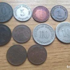 Monedas antiguas de Europa: ALEMANIA. 10 MONEDAS ANTIGUAS DIFERENTES. Lote 122258595
