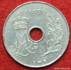 Monedas antiguas de Europa: DINAMARCA - DANMARK - 25 ORE - 1976. Lote 122276707