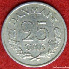 Monedas antiguas de Europa: DINAMARCA - DANMARK - 25 ORE - 1964. Lote 122285175