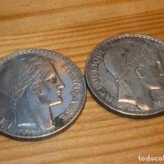 Monedas antiguas de Europa: LOTE 2 BELLA MONEDA PLATA FRANCIA 20 FRANCOS 1933 1934 TURIN ART DECO COLECCION. Lote 122479831
