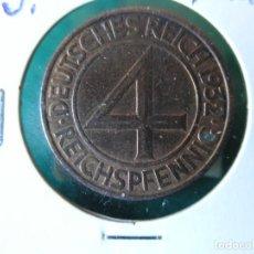 Monedas antiguas de Europa: MONEDA 4 REICHSPFENNIG - ALEMANIA - 1932 J - EBC. Lote 118478823