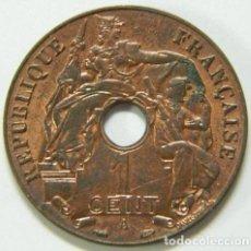 Monedas antiguas de Europa: 1 CENT FRANCIA 1938 INDO-CHINE FRANCAISE -PRECIOSA. Lote 123235727