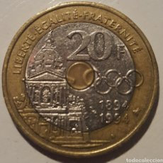 Monedas antiguas de Europa: FRANCIA CONMEMORATIVA 20 FRANCOS 1994. Lote 123548491