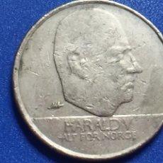 Monedas antiguas de Europa: MONEDA DE NORUEGA. 10 KRONER. ROI HARALD V. AÑO 1995.. Lote 123556727