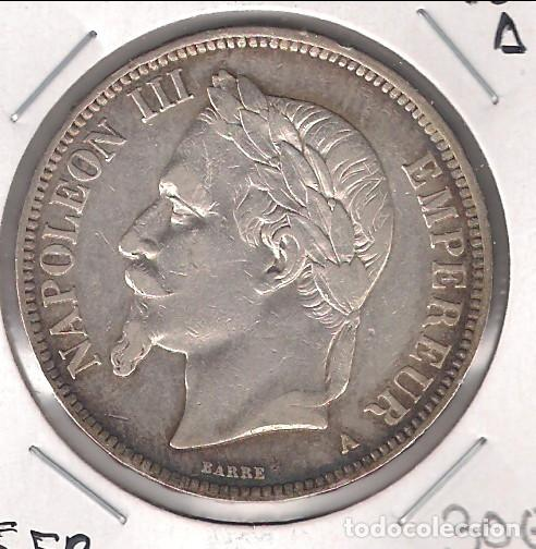 MONEDA DE 5 FRANCOS DE FRANCIA DE 1870-A. PLATA. MBC- (ME1935) (Numismática - Extranjeras - Europa)
