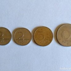 Monedas antiguas de Europa: LOTE 4 MONEDAS HUNGRÍA. Lote 124902439