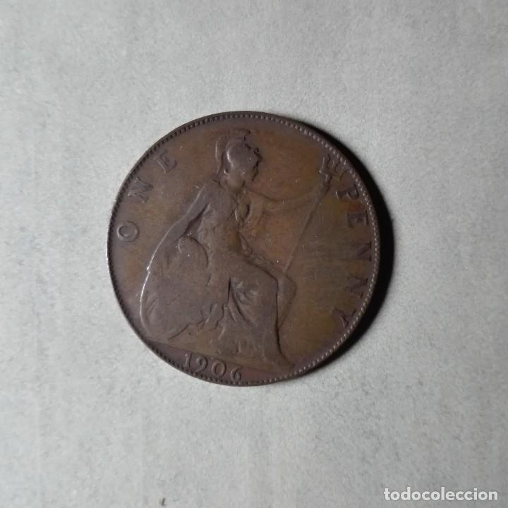 Monedas antiguas de Europa: INGLATERRA AÑO 1906 1 PENNY - Foto 2 - 125039011